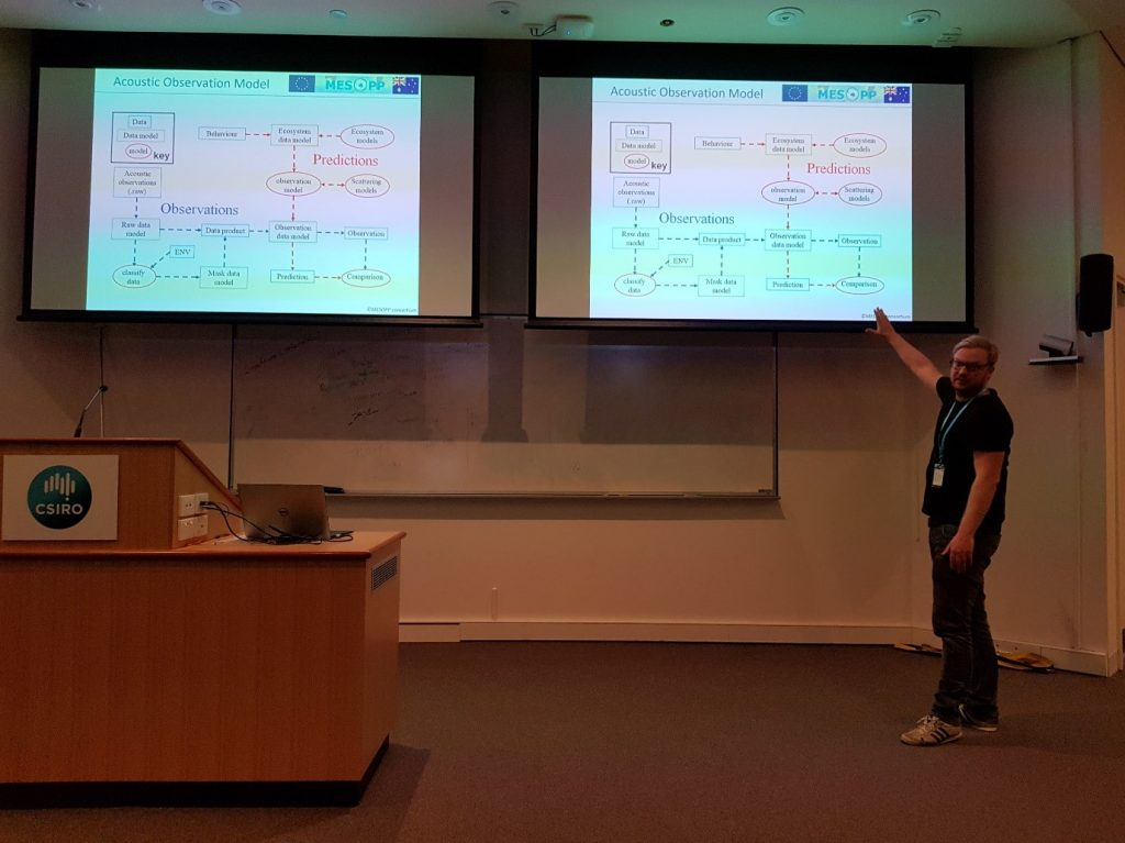 Roland Proud presenting at the Hobart MESOPP meeting, November 2017.